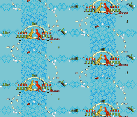 Have A Ball: An Orderly Toy Explosion - Blue Colorway fabric by joybucket on Spoonflower - custom fabric