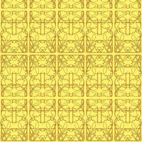 Sunshine Ginkgo Window fabric by edsel2084 on Spoonflower - custom fabric
