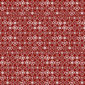 gears in red and white