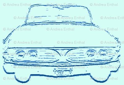 1960 Edsel shadow in blues