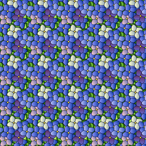 ©2011 hydrangea bouquet fabric by glimmericks on Spoonflower - custom fabric