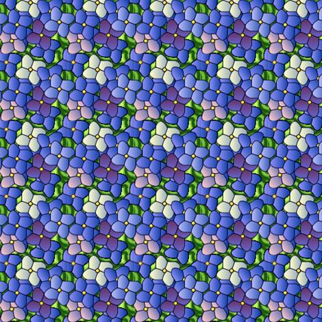 ©2011 hydrangea bouquet fabric by glimmericks on Spoonflower - custom fabric