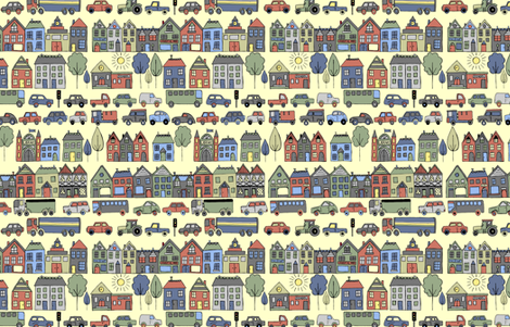 busy town fabric by luciesummers on Spoonflower - custom fabric