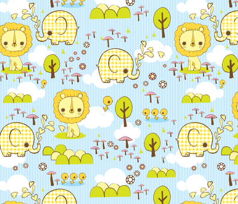 sweet_jungle fabric by teamkitten on Spoonflower - custom fabric