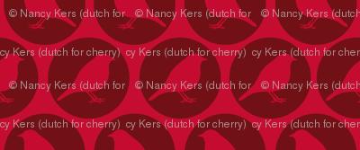 Red Birds (in dark red circel)