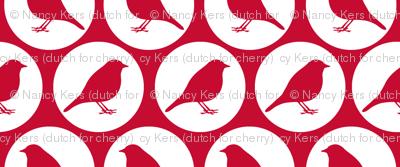 Red Birds (in white circel)