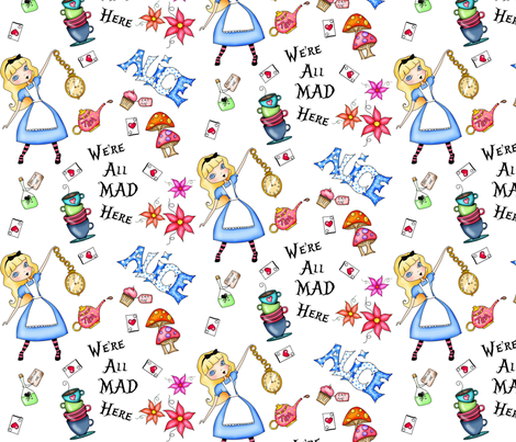 I dream of Alice fabric by tuesdaydesigns on Spoonflower - custom fabric