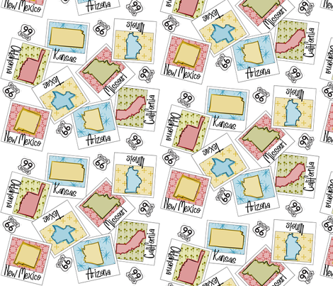 Route66 Snapshot fabric by gg33 on Spoonflower - custom fabric