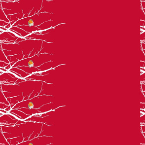Red Birds (on branches)
