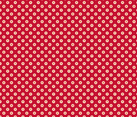 pois_fond_rouge_1 fabric by nadja_petremand on Spoonflower - custom fabric