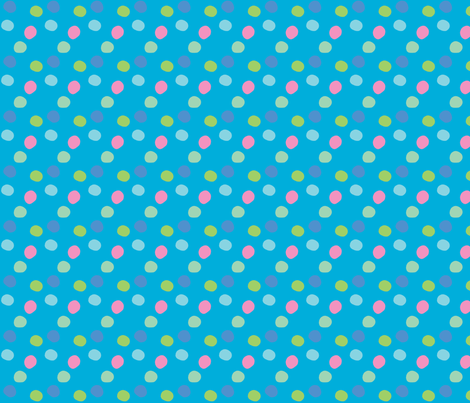 pois_rose_fond_turquoise fabric by nadja_petremand on Spoonflower - custom fabric