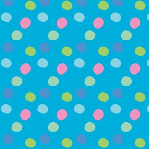 pois_rose_fond_turquoise