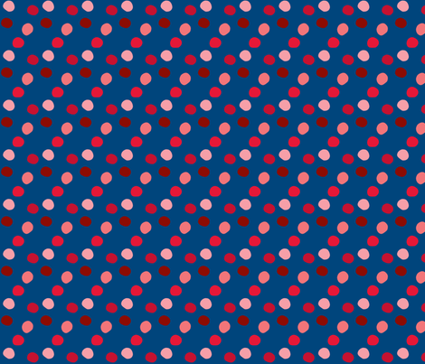pois_rouge_fond_marine fabric by nadja_petremand on Spoonflower - custom fabric