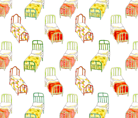 beds fabric by mummysam on Spoonflower - custom fabric