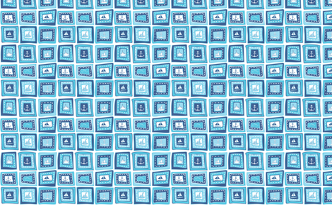 Baby_Boy_Boat fabric by rubysky on Spoonflower - custom fabric