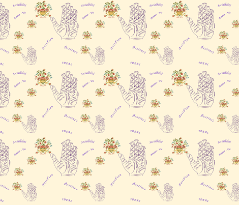 Life_map fabric by marygrace on Spoonflower - custom fabric