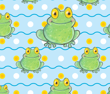 Baby Polka-Frog fabric by asilo on Spoonflower - custom fabric