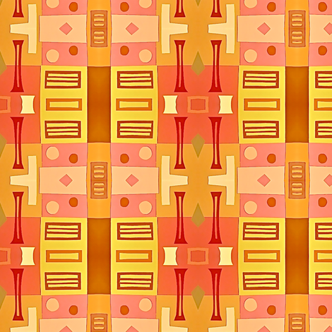 Warm Garden Gate fabric by boris_thumbkin on Spoonflower - custom fabric
