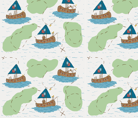 Explorer Bears fabric by mandyd on Spoonflower - custom fabric