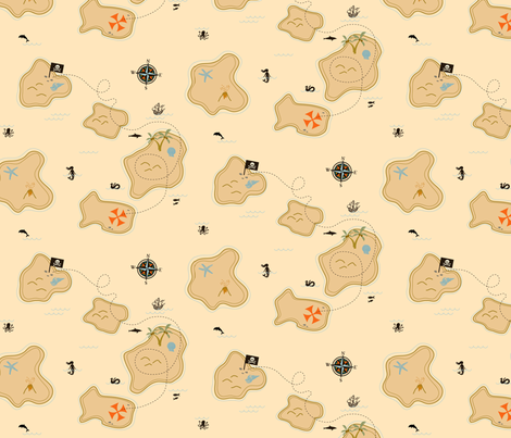 Treas-arrrh! fabric by jenimp on Spoonflower - custom fabric