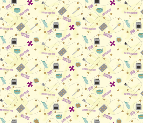 Map to the Cookies fabric by lulakiti on Spoonflower - custom fabric
