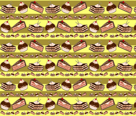 gateaux en lignes fabric by kobaitchi on Spoonflower - custom fabric