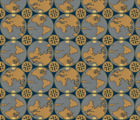 The World fabric by shirayukin on Spoonflower - custom fabric