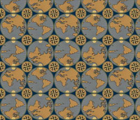 The World fabric by shirayukin on Spoonflower - custom fabric