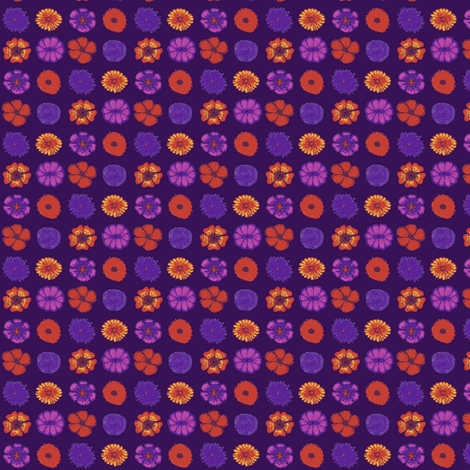 Happy summer flowers fabric by tallulah11 on Spoonflower - custom fabric