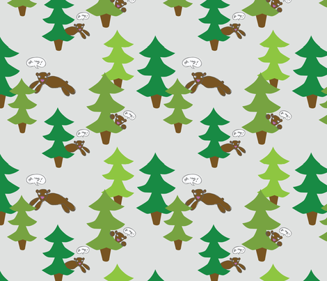 bears fabric by circlesandsticks on Spoonflower - custom fabric