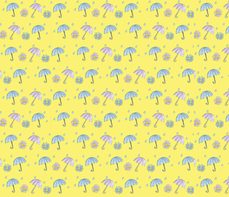 AprilShowersMayFlowers fabric by saralou on Spoonflower - custom fabric