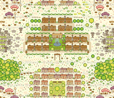 Map of Pixel Town