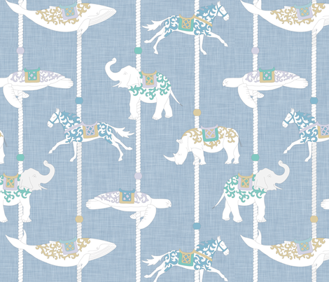 Alejandro's Carrousel - El Carrusel de Alejandro fabric by dna2011 on Spoonflower - custom fabric