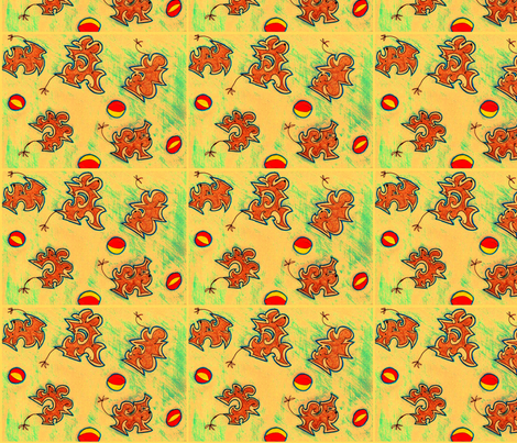 running_dogs fabric by luvabumboutique on Spoonflower - custom fabric