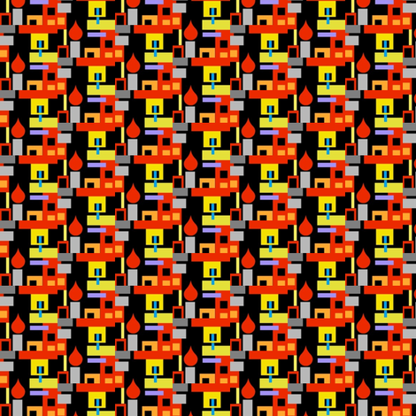Candlelit Apartment Building fabric by boris_thumbkin on Spoonflower - custom fabric