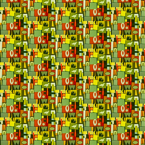 Suburban Mosaic fabric by boris_thumbkin on Spoonflower - custom fabric