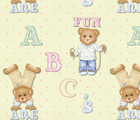 ABC's Are Fun fabric by spicetree on Spoonflower - custom fabric