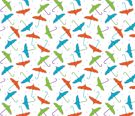 umbrella_toss_rainFAT fabric by diane_marie on Spoonflower - custom fabric