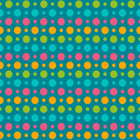 Multidot in turquoise fabric by artsycanvasgirl on Spoonflower - custom fabric