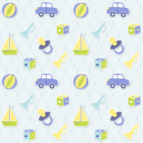 Baby Boy fabric fabric by martinaness on Spoonflower - custom fabric
