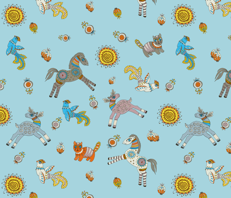 folk story fabric by karokarolinko on Spoonflower - custom fabric