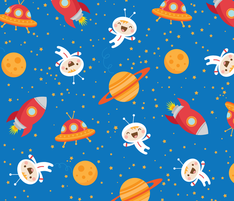 Space Fun fabric by jazzypatterns on Spoonflower - custom fabric