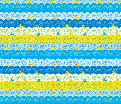 Ducks in a Row fabric by artful_quilter on Spoonflower - custom fabric