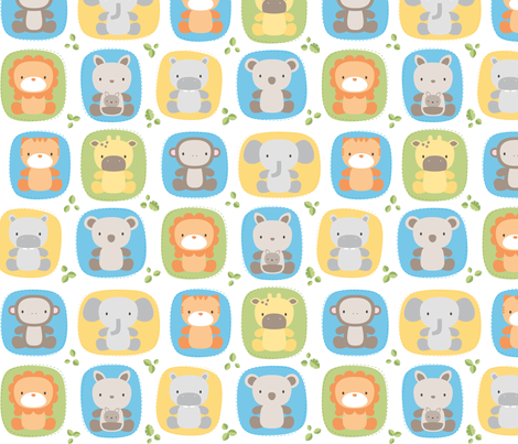 Baby Animals fabric by misstiina on Spoonflower - custom fabric