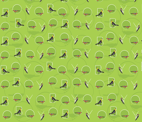 O Boy! fabric by maeula on Spoonflower - custom fabric
