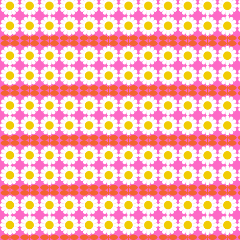 daisy pink fabric by aliceapple on Spoonflower - custom fabric