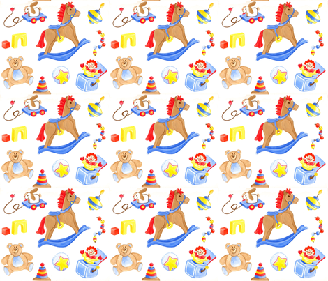 Playtime Favorites fabric by mercedese_bantz on Spoonflower - custom fabric