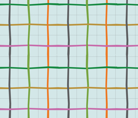 bbplaid fabric by circlesandsticks on Spoonflower - custom fabric