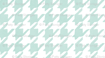 Houndstooth - Backyard Soft Blue