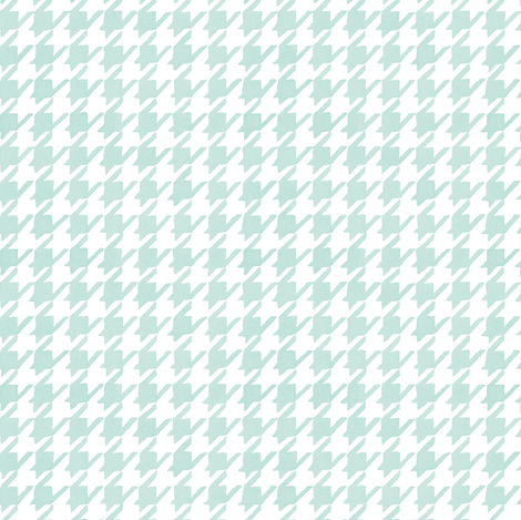 Houndstooth - Backyard Soft Blue fabric by pattysloniger on Spoonflower - custom fabric